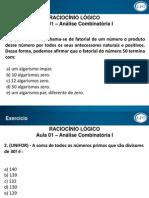 Material de Apoio - R. Lógico - Adriano Caribé - Análise Combinatória I