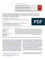 Teacher Attitdes and Behavior Toward the Inclusion of Children With Social, Emotional and Behavioral Difficulties in Mainstream Schools_an Application of the Theory of Planned Behavior