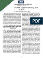 Finite Element Analysisis of a crankshaft using ANSYS