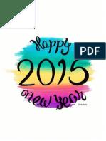 Calendario 2015 en Colores de Playa