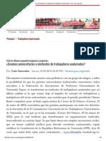 ¿Gremios Universitarios o Sindicatos de Trabajadores Asalariados_ - Por_ Luís Saavedra