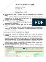 Tema Portofoliu Platforma EUPD