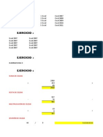 Ejercicios Excel