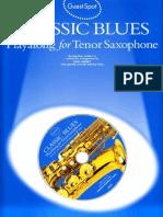 Paul Honey - Classic Blues (Playalong for Tenor Saxophone)