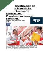 Nueva Fiscalización en Materia Laboral