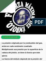 3ra. a.- Presentaci n de Aritm Tica Aplicada a La Mec Nica I. Fuerza M Xima Del Embolo.