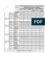 Horario Examenes - Agosto Diciembre 2014
