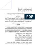 Vieira_2011_STF MS 027.875 e EXT 1.085 Parecer (Caso Battisti)_Unknown