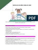 Características de Los Niños y Niñas de 5 Años
