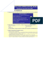 MCMI-IICalificación TEST PSICOLOGICO