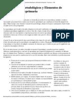 As Lineamientos Metodológicos y Elementos de Evaluación - Preprimaria - CNB