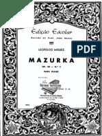 Miguez Mazurka Op.20 2