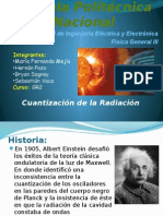 Cuantizacion de La Radiación