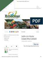 Jabón Con Aceite Usado (Alta Calidad) _ Ecocosas