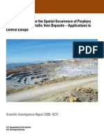 A Tectonic Model for the Spatial Occurrence of Porphyry Copper and Polymetallic Vein Deposits—Applications To