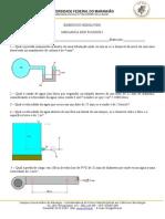5 Lista de Atividades - Mecânica dos Fluídos