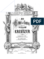 Kreutzer 2nd Violin Part