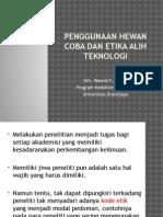 sem 6. Teknik penggunaan hewan coba dan etika alih teknologi.pptx