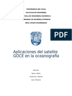 Aplicacion de GOCE en La Oceanografia
