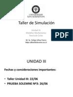 03 Unidad III Teoría de Colas Simulación USS