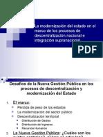 Modernizacion Del Estado Marco Procesos Descentralizacion Nacional Integracion Supranacional