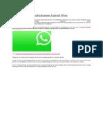 WhatsApp Soporta Oficialmente Android Wear
