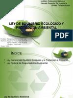 Ley General Del Equilibrio Ecologico y Proteccion Ambiental