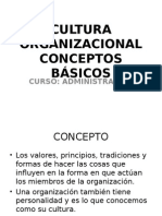 Cultura Organizacional Conceptos Basicos