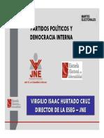 Partidos Politicos y Democracia Interna