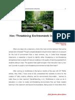 Non-Threatening Environments in Education