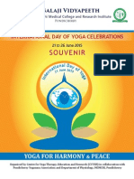 Souvenir of the INTERNATIONAL DAY OF YOGA CELEBRATIONS 2015