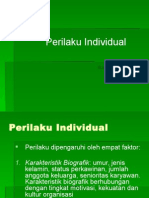 1.Perilaku Individual