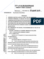 Amended Police Oversight Ordianance