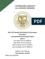 aircraft design report final