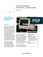 Evaluating Oscilloscope Sample Rates vs. Sampling Fidelity