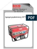 Bico Instrukcja Agregat EP7500ES-T