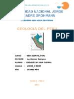 Geologia Del Peru, Monografia