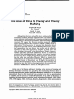 George the Role of Time in Theory and Theory Building