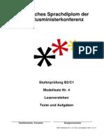 B2-C1 Modellsatz Nr.4, LV Texte Und Aufgaben