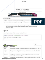 HTML Marquees