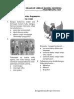 Soal UH PKN Kelas 3 Bab Bangga Sebagai Bangsa Indonesia Semester 2