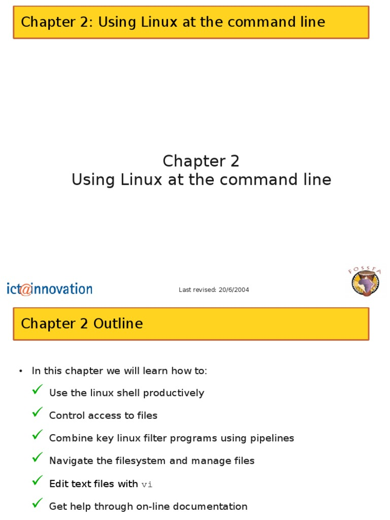 Chapter 2 Using Command Line | Command Line Interface