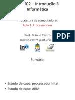 Arquitetura de Computadores - Aula 2 - UFSC