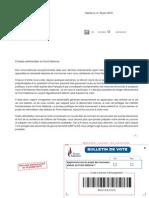 Lettre de Marine Le Pen 19/06/15