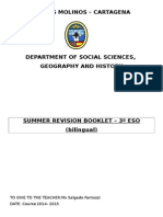 3ESO Summer Revision Booklet 2015