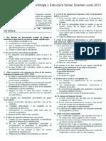Examen Sociología y estructura social - UNED