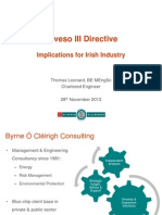 Seveso III Directive Implications for Irish Industry