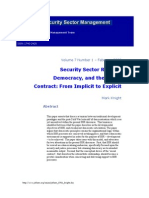 Security Sector Reform Democracy and the Social Contract