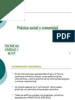 Practicas Sociales y Comunidad