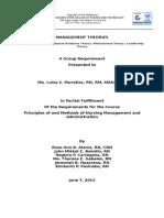 Management Theories (1)